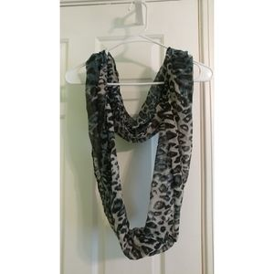 Black and Blue Infinity Scarf